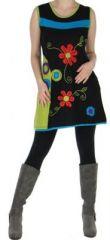 Robe ou Tunique color�e et originale Noire � col Anis  Flora 272733