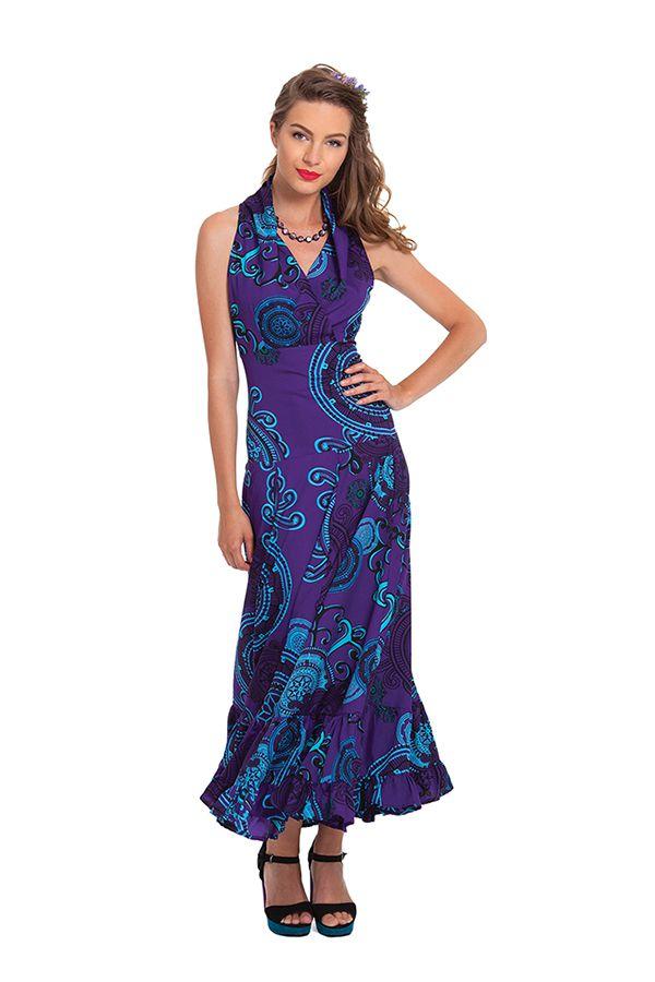 robe d ete longue bleue ideale ceremonie et originale kasa. Black Bedroom Furniture Sets. Home Design Ideas