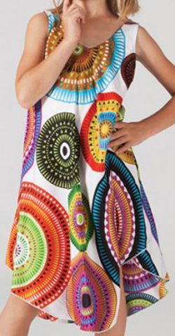 Robe pour Enfant Blanche Colorée et Originale Galanou 277380