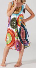 Robe pour Enfant Blanche Colorée et Originale Galanou 277381