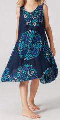 Robe pour Enfant Colorée et Originale Galanou Bleu Fonçé 277377