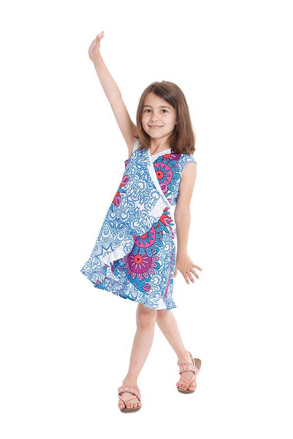 Robe pour Enfant Sarabi Colorée et Portefeuille Blanche à Mandalas 280188