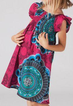 Robe pour fille d'été Colorée et Ethnique Abaya Rose 277320