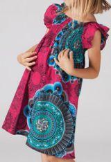 Robe pour fille d'�t� Color�e et Ethnique Abaya Rose 277320