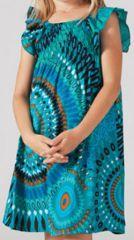 Robe pour fille d'�t� Ethnique et Color�e Abaya Turquoise 277310