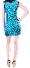 Robe pour l'été courte pour l'été Originale et Imprimée Dounnia Bleue 276916