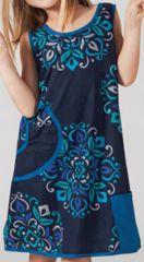 Robe pour petite Fille Ethnique et Originale Kadama Bleue 277390