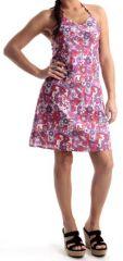 Robe Rose d'été courte à dos nu Colorée et Originale Obidos 280356