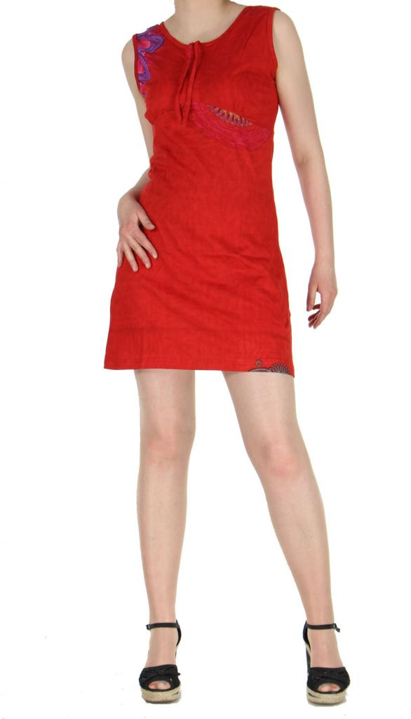 Robe rouge colorée et originale Julianne 269354