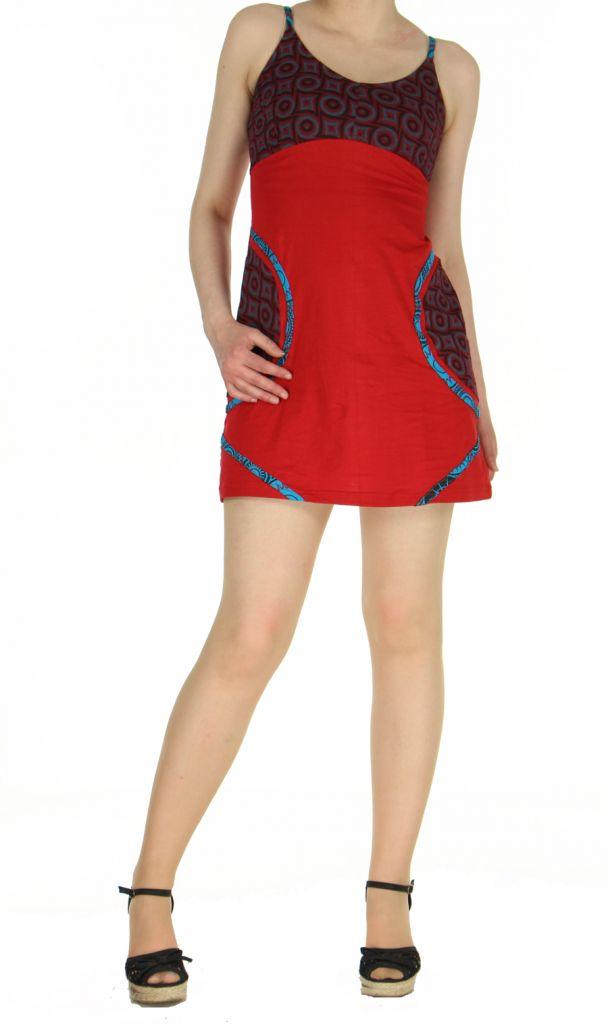 Robe rouge courte à dos-nu Clara 268770