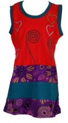 Robe rouge originale pour fillette Sara 268644