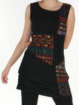 Robe sans manches en maille Originale et Color�e Tatiana Noire 276407