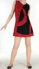 Robe spirale rouge et noire Romane 270050