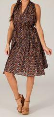 Robe Tunique d'été mi-longue Marron Originale Figueira 280373