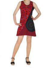 Robe tunique ethnique du N�pal maya rouge 262000