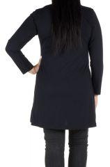 Robe tunique femme ronde à broderie paisley Meriva 301989