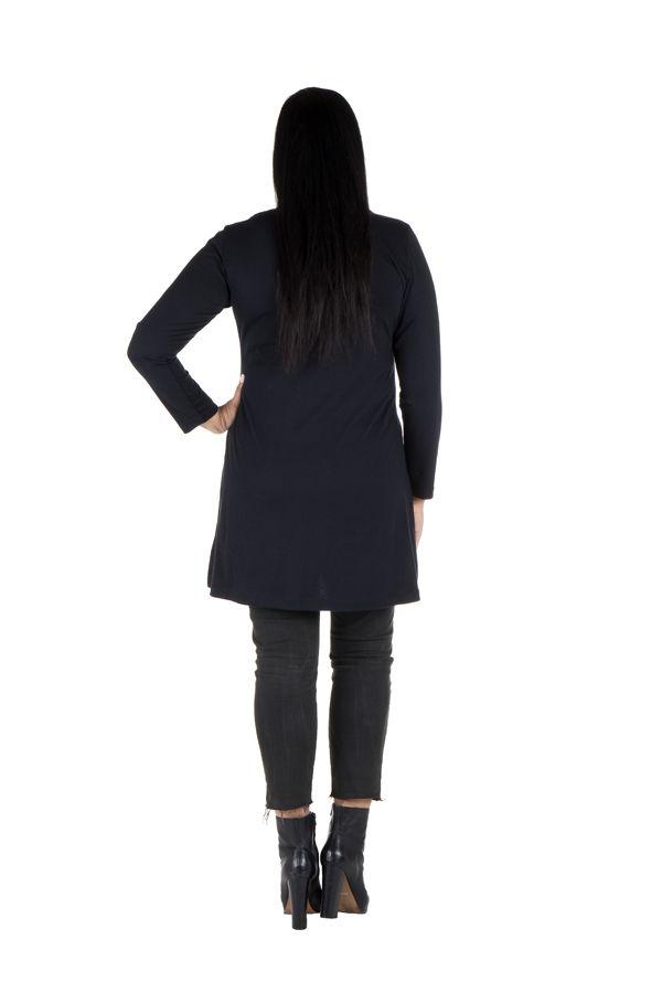 Robe tunique femme ronde à broderie paisley Meriva 301990