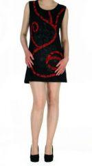 Robe tunique noire ethnique chic Florie 268798