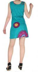 Robe turquoise colorée et originale Julianne