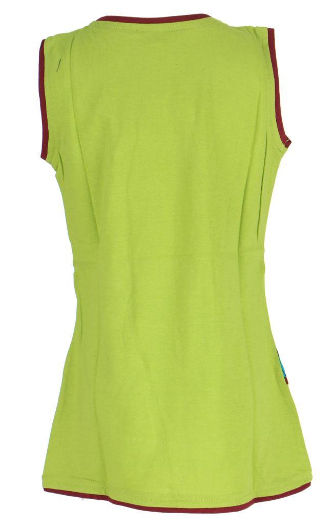 Robe verte imprimée pour fille Néréa 268707