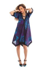 robe violette de forme kimono asymetrique originale et coloree kashia. Black Bedroom Furniture Sets. Home Design Ideas