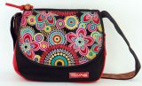 Sac � bandouli�re Macha Color� en Coton et Cuir Passo Noir 277708