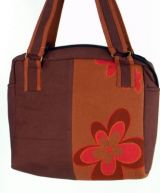 Sac � main ethnique flower marron 249481