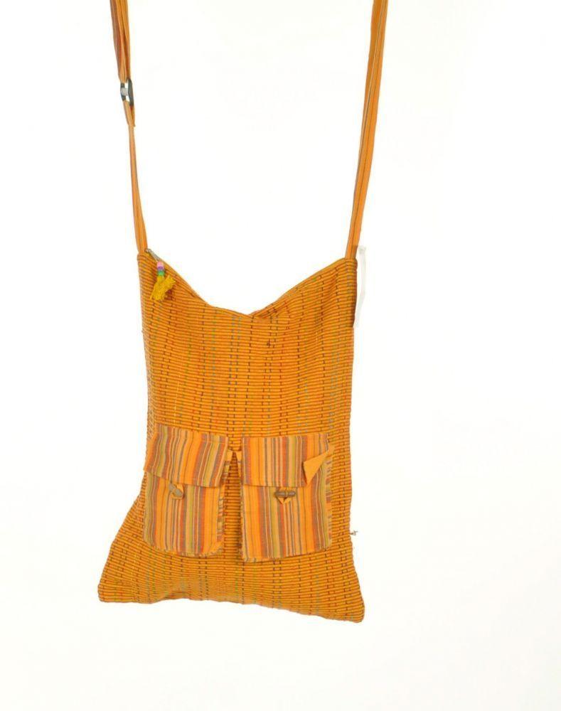 sac ethnique à bandoulière pixok jaune 244594