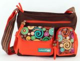Sac femme Macha original marron et orange � bandouli�re Spirale 271314