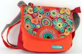 Sac Macha � bandouli�re en Coton et Cuir Color� Passo Orange 277706