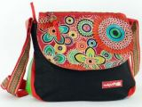 Sac Macha color� noir et rouge � bandouli�re Bounty 271484
