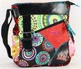 Sac Macha color� tons noir � bandouli�re Gecko 271297