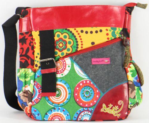 Sac Macha coloré tons rouge à bandoulière Gecko 277212