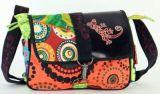 Sac Macha cuir et coton � bandouli�re Salamandre n3 271509