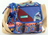 Sac Macha ethnique tons bleu � bandouli�re Malino 271474