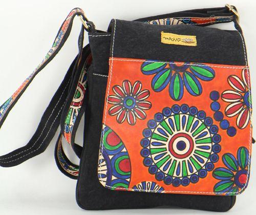 Sac Macha Mt coloré en coton et cuir à bandoulière Titan 5 277237