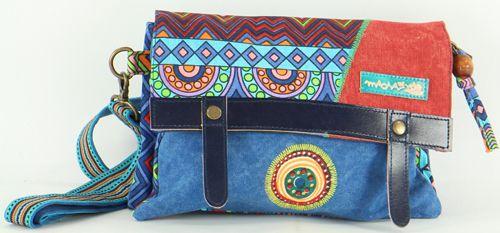Sac-pochette Macha pour Femme Ethnique et Original Tasami Bleu 277257
