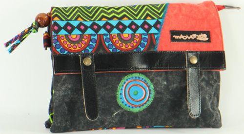 Sac-pochette Macha pour Femme Ethnique et Original Tasami Noir 277253