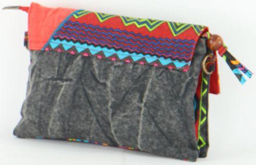 Sac-pochette Macha pour Femme Ethnique et Original Tasami Noir 277254