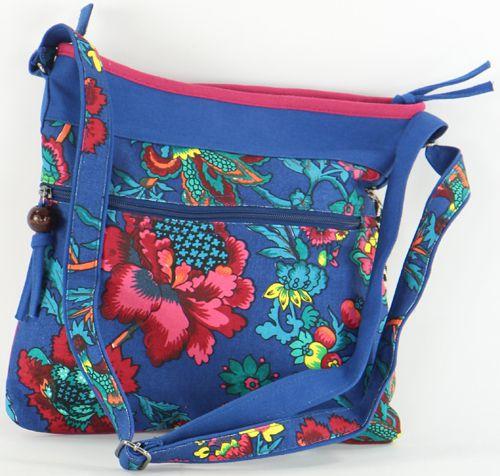 Sac pour Femme Macha Ethnique et Original Halaya Bleu 277276