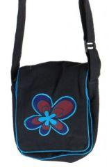 Sacoche � bandouli�re flyia noire et bleue 261424