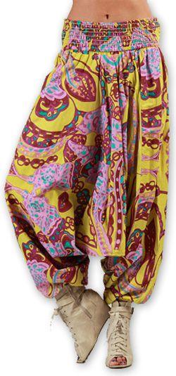Sarouel  3en1 pour Femme Ethnique et Coloré Bonny Rose 276956