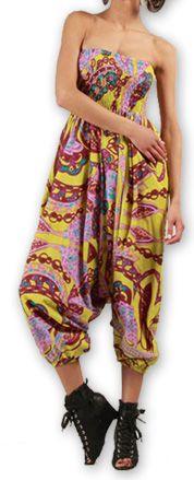 Sarouel  3en1 pour Femme Ethnique et Coloré Bonny Rose 276960