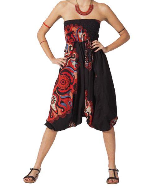 Sarouel 3 en 1 noir et rouge Melissa 267767