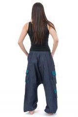 Sarouel ample pour homme ou femme mixte en jean Likoni 305511