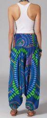 Sarouel bleu pour femme 3en1 Vanida