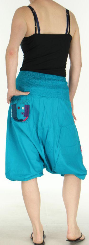 Sarouel court pour Femme Ethnique et Coloré Jessim Turquoise 275433