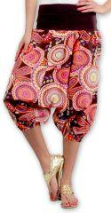 Sarouel court pour Femme Ethnique et Coloré Joddy Rose 277100