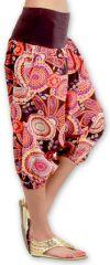 Sarouel court pour Femme Ethnique et Coloré Joddy Rose 277102