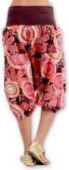Sarouel court pour Femme Ethnique et Coloré Joddy Rose 277103